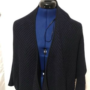 TAHARI KNIT OPEN FRONT SWEATER SIZE M